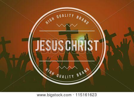 Jesus Christ Religion Believe God Concept