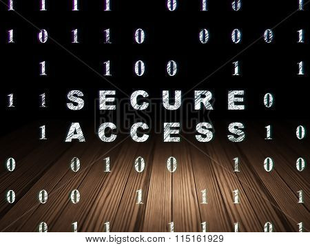 Protection concept: Secure Access in grunge dark room
