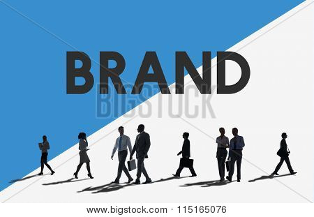 Business People Commuter Brand Marketing Concept
