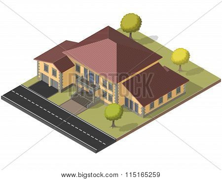 villa Isometric Vector EPS10