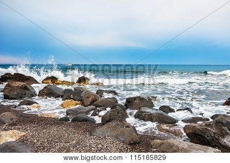 Waves On The Wild Seacoast