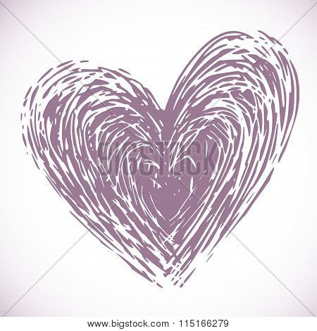 hand drawn heart,  vector