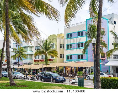 Walking By Ocean Drive