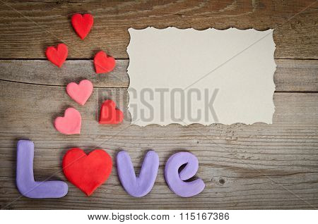 Word Love Composition With  Heart  Rather Letter