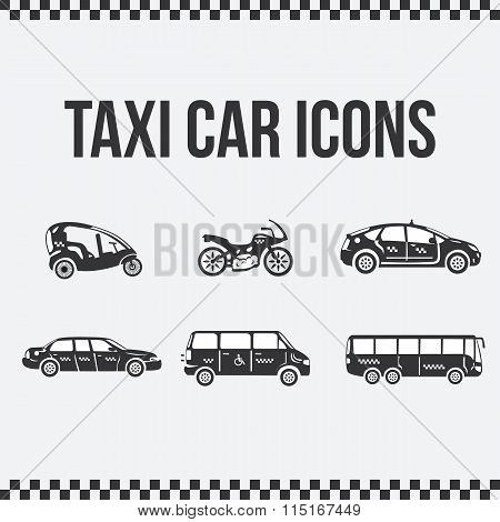 Set of taxi icons for web sites, presentations.