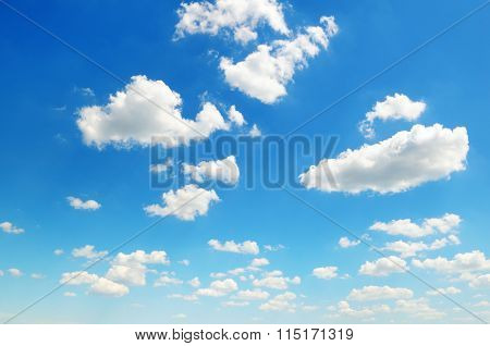 Cumulus Clouds In The Blue Sky