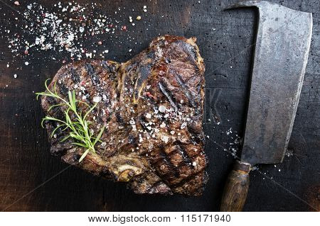 Dry Aged Barbecue Porterhouse Steak