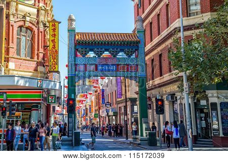 Melbourne Chinatown arches
