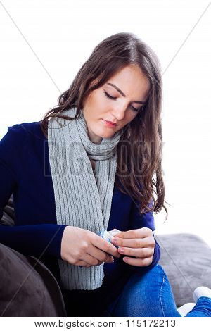 Young Woman Having Flu