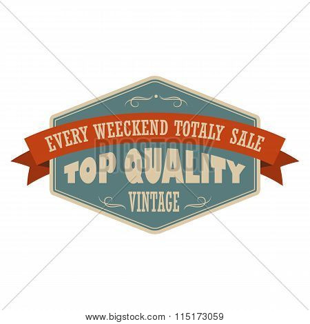 Top quality vintage banner
