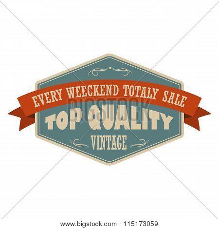 Top quality vintage banner