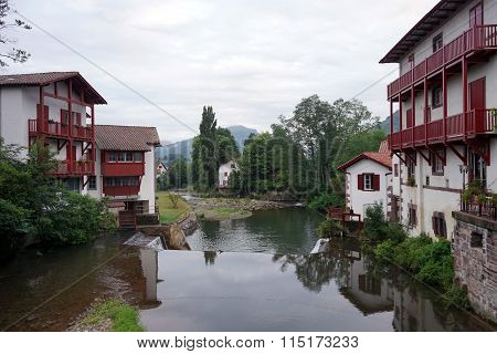 Houses And River