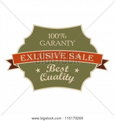 Exclusive sale green vintage banner