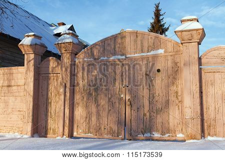 Wooden Gates Of An Old House