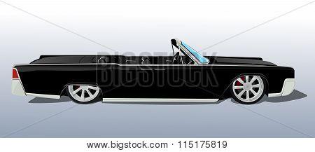 american black car cadillac cabriolet classic gangsta hip hop