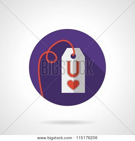 Colored round love proposal label vector icon
