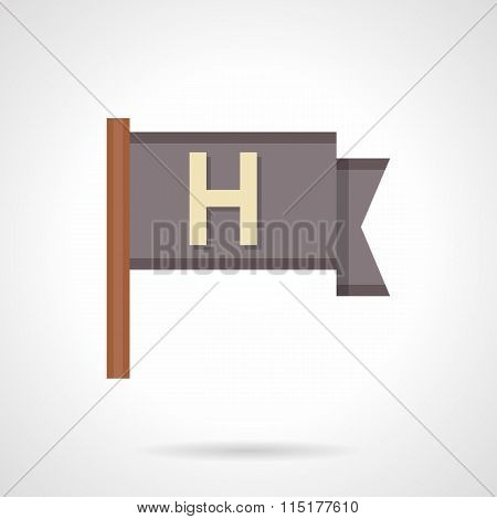 Support pennant flat color vector icon