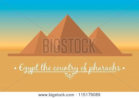 landscape of the Egyptian pyramids