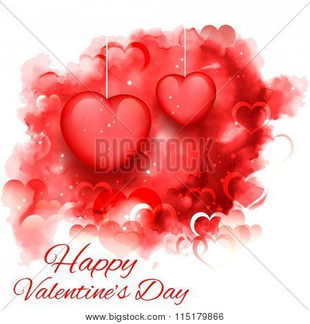 illustration of abstract Valentine's Day Background