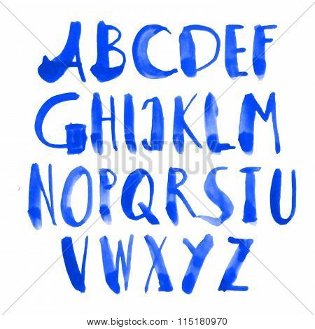 Drawn Alphabet. Vector