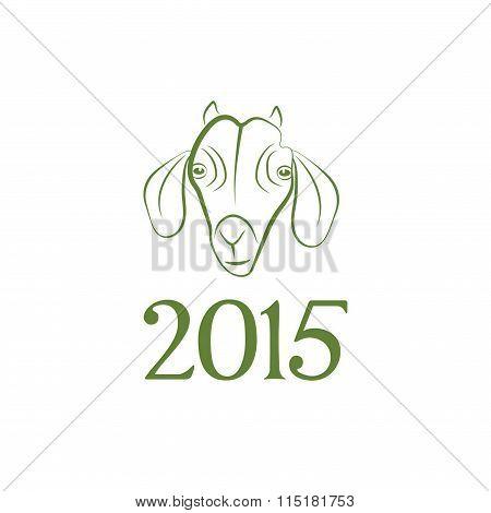 Symbol Vector Goat 2015 Year Illustration