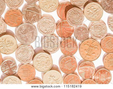 British Pound Coin Vintage