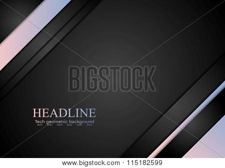 Rose quartz and serenity tech corporate background. Trendy colors of 2016 year vector design
