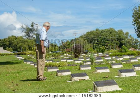 Veterans cemetery in Rememberance Day At Labuan FT, Malaysia