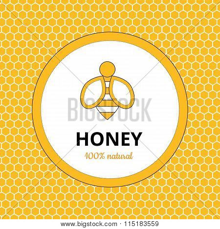 Logo, sticker for honey brand, apiary