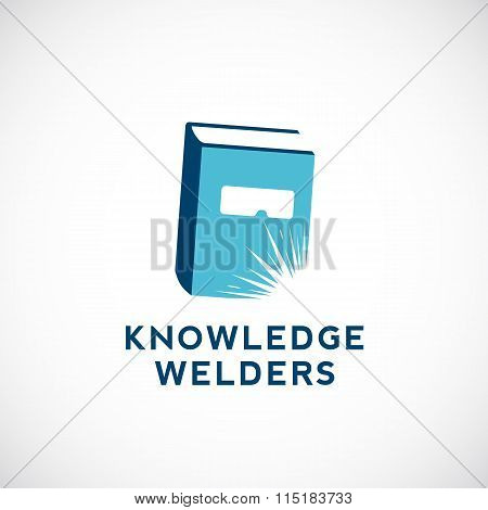 Knowledge Welders Education Abstract Vector Sign, Symbol or Logo Template.