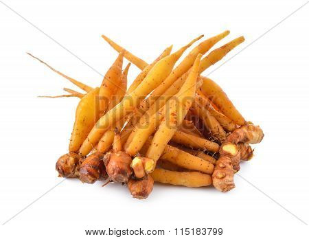 Whole Rhizome, Finger Root On White Background
