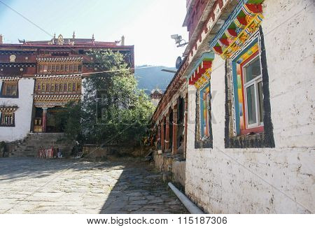 Sichuan of China Tibetan temple