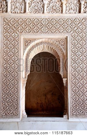 Moorish alcove, Alhambra Palace.