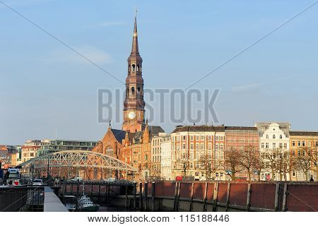 View St. Catherine's Church (katharinenkirche), Hamburg, Germany