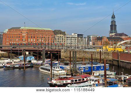view of Binnenhafen, Hamburg, Germany