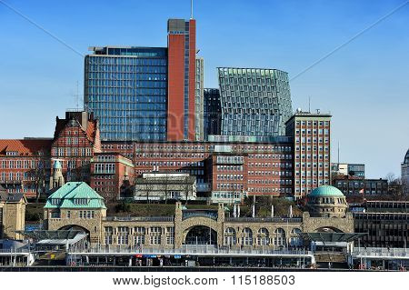 Modern Architecture At Saint Pauli - Landungsbrucken District, H