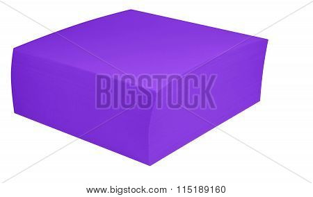 Packed Block Of Note Paper - Violet