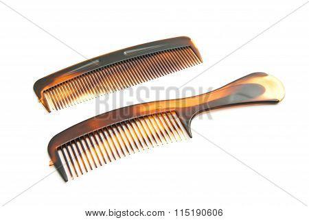 Pair Of Brown Hairbrush