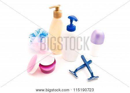 Shower Gel, Cream, Razors And Wisp