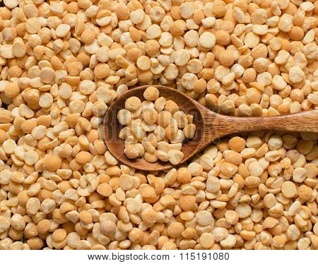 Yellow Peas With A Spoon