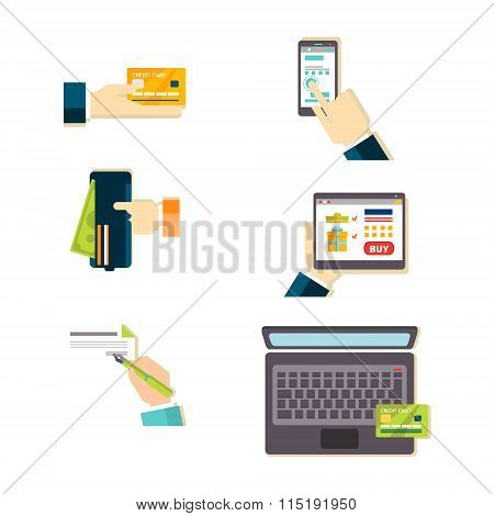 E-commerce Vector Illustration Set