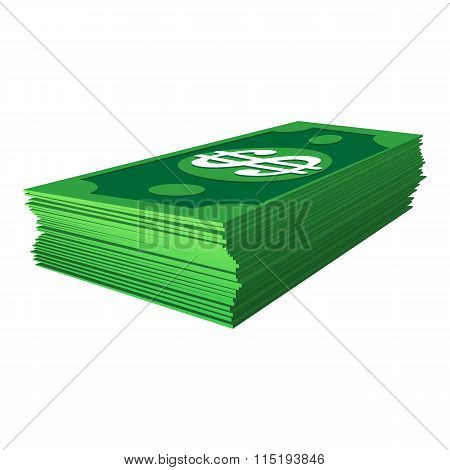 Stack of dollars cartoon icon