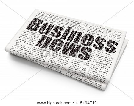News concept: Business News on Newspaper background