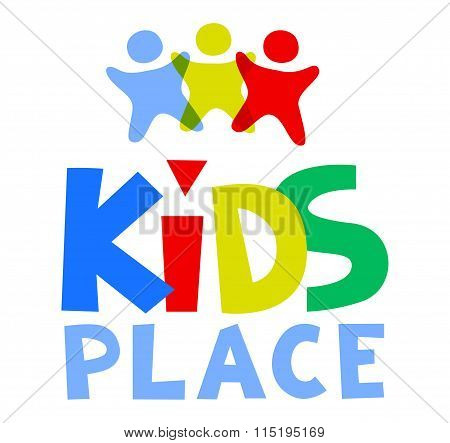Kids Place Vector Logo Template.