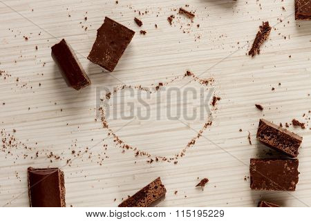 Heart Shape From Chocolate