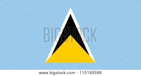 Standard Proportions For Saint Lucia Flag