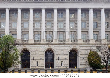 Internal Revenue Service (IRS) Headquarters Building in Washington DC, USA