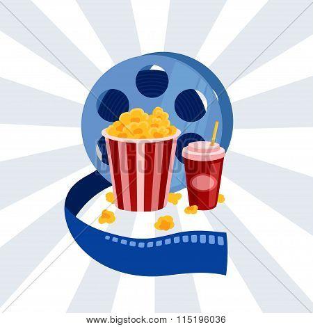 Cinema vector poster
