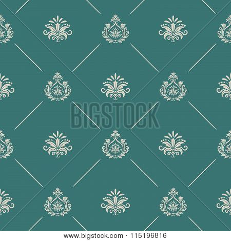 Wallpaper in royal baroque style