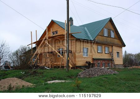 The building of a country-house